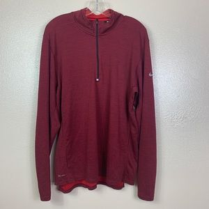 Men's maroon Nike running jacket
